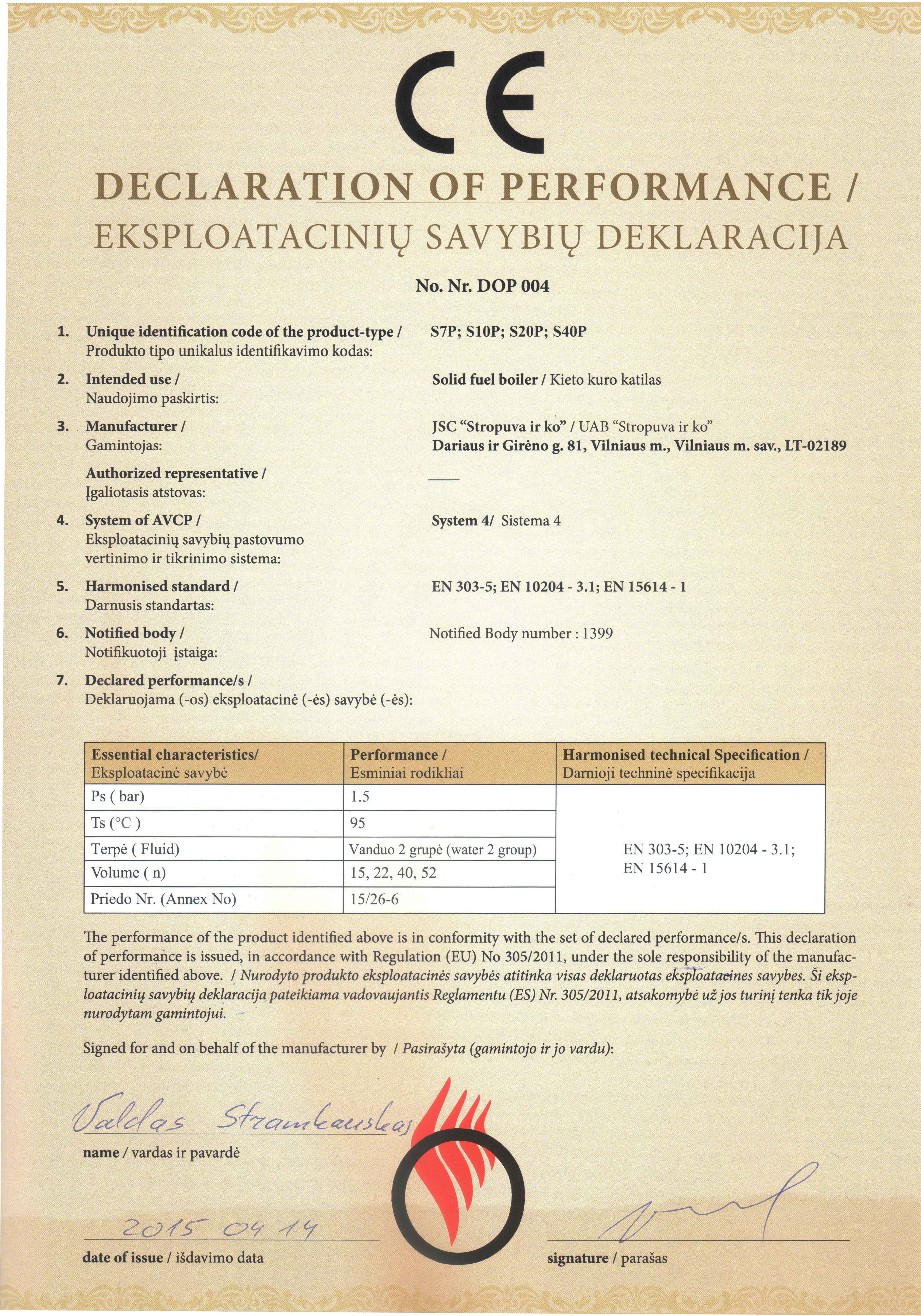 Eksplotaciniu savybiu deklaracija granuliniai katilai1
